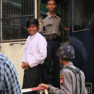 Dispatches: Retroactive Repression of Burma's Students