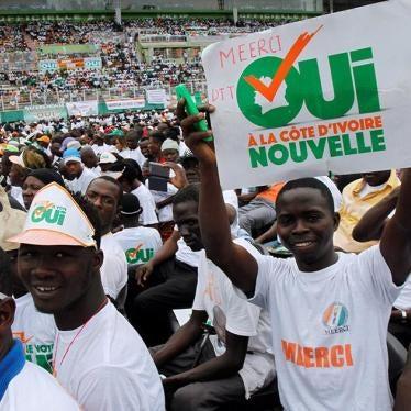 Côte d'Ivoire : Respecter les droits du camp du «non» lors du référendum