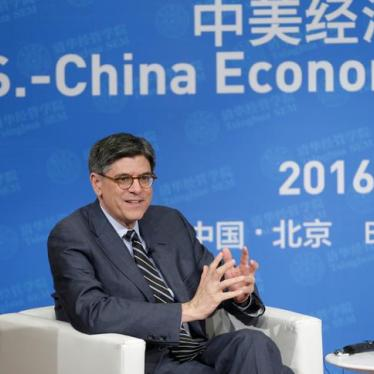 US: Show Breadth of Rights Commitment at China Dialogue