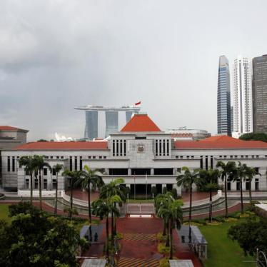 Singapore: Reject Overly Broad Contempt Law