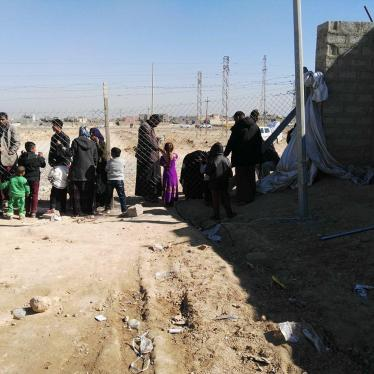 "Iraq: Displacement, Detention of Suspected ""ISIS Families"""
