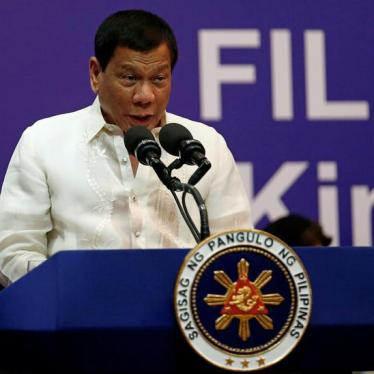 The Philippines' Duterte Incites Vigilante Violence
