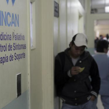 The palliative care services at the National Cancer Institute of Guatemala. Guatemala City, August 2015. © 2015 Human Rights Watch