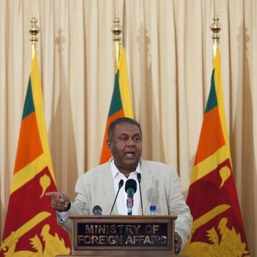 Don't Backtrack on Justice for Sri Lanka's Victims