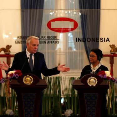 France: Press Indonesia on Key Rights Concerns
