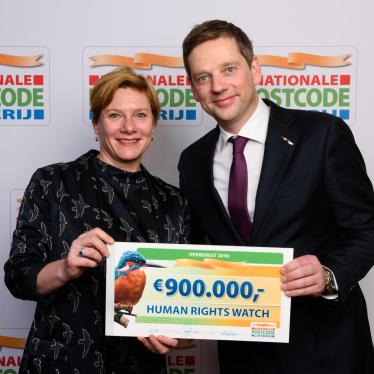 The Dutch Postcode Lottery & Human Rights Watch