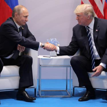 U.S. President Donald Trump shakes hands with Russia's President Vladimir Putin during their bilateral meeting at the G20 summit in Hamburg, Germany, July 7, 2017.