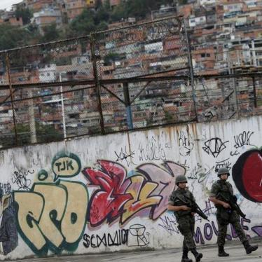 Brazil: Don't Shield Soldiers in Homicide Cases