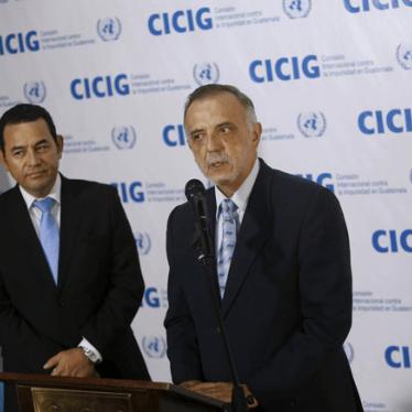 Guatemala no debe intentar destituir a funcionario anticorrupción de la ONU