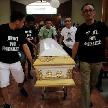 Philippine Journalist Killings Demand State Action
