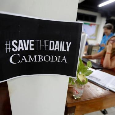 Cambodia: Leading Paper Threatened with Closure
