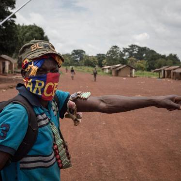 Anti-Balaka fighters in Gambo, Mboumou province, Central African Republic, on August 16, 2017.