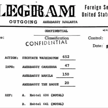 US Telegram Reveals Brutality of 1965 Indonesian Papua Massacre