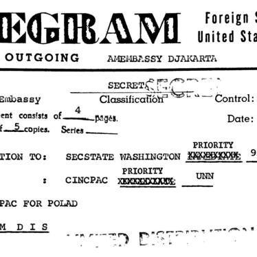 印尼:美国释出1965-66年屠杀相关文档