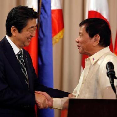 Japan's Abe Should Denounce Philippines' Murderous 'Drug War'
