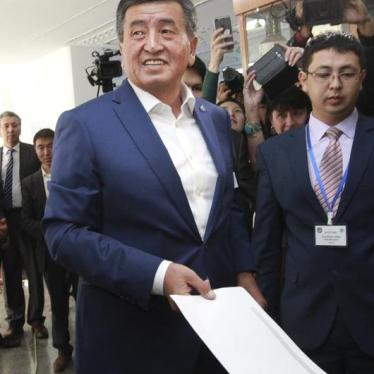 Kyrgyzstan: President-Elect Should Make Rights a Priority