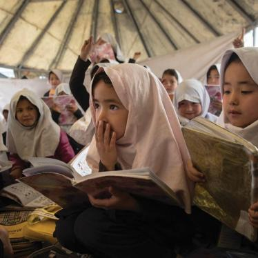 Letter to the World Bank re Education Quality Reform in Afghanistan (EQRA) project