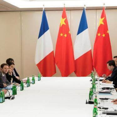 China: France Should Spotlight Rights Crisis