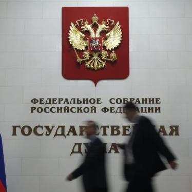 Russia: Reject 'Foreign Agents' Media Bill