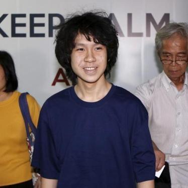 US: Release Singaporean Blogger Amos Yee
