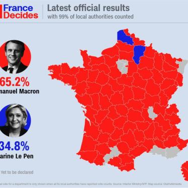 Macron Victory in France; New US Detention Report: HRW Daily Brief
