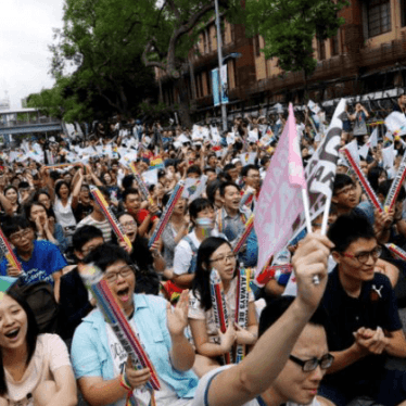 Taiwan To Recognize Same-Sex Marriage: HRW Daily Brief