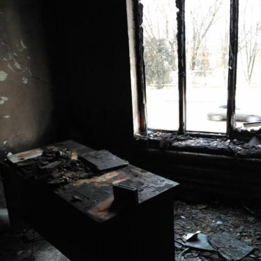 Arson Attack on Office of Russian Rights Group