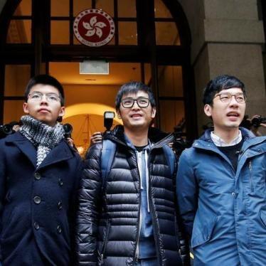 香港:学生领袖判刑撤销