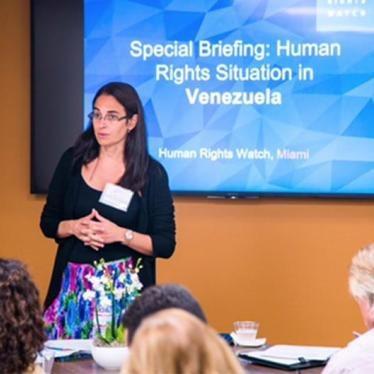 "Tamara Taraciuk Broner speaks on ""The Current Human Rights Crisis in Venezuela"""