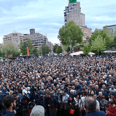 Police in Armenia Detain Dozens of Demonstrators