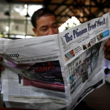 Cambodia: Coerced Sale of Last Independent Newspaper
