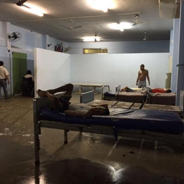 A psychiatric ward in an institution in Rio de Janeiro. Residents of most institutions in Brazil live in depersonalized conditions, have few if any personal belongings, and have little or no privacy.