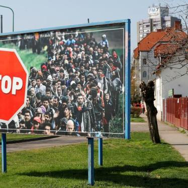 Hungary: Bill Makes Aiding Migrants a Crime