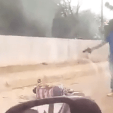 A still from a video recorded by a witness to an apparent summary killing in Luanda, Angola, on June 1, 2018.