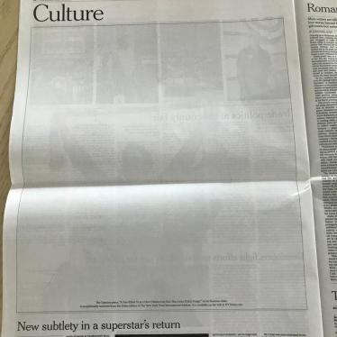 Opinion Pieces Removed from the Qatar edition of New York Times