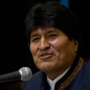 Bolivia's President Evo Morales speaks during a press conference about judicial elections at the presidential palace, in La Paz, Bolivia, Monday Dec. 4, 2017.