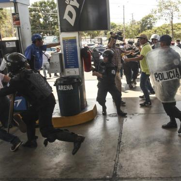 Police detain protesters during a demonstration against the government of President Daniel Ortega in Managua, Nicaragua, on March 16, 2019.