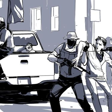 Illustration of protests in Nicaragua.