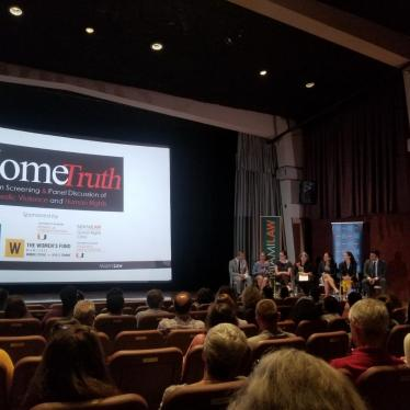 A Film Screening & Panel Discussion of Domestic Violence and Human Rights