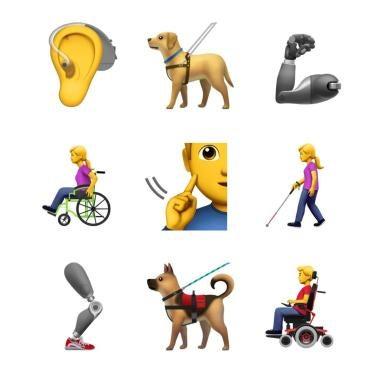 Emojis mit Behinderung bringen Integration voran