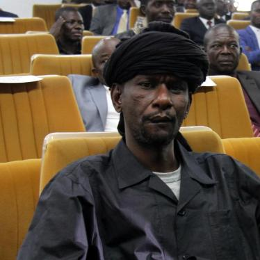 Sidiki Abass (also known as Bi Sidi Souleymane), commander of a group called Return, Reclamation, Rehabilitation, or 3R, at the peace deal signing ceremony in Bangui, Central African Republic, on February 6, 2019.