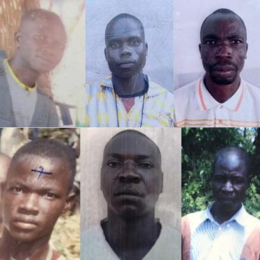 Top row, from left to right: Augustin Vote (Killed in Koundjili); Raphael Haoumi (Killed in Lemouna); Zachée Gong-Pou (Killed in Lemouna); Sosthène Kobaikera (Killed in Lemouna); Evariste Ngororo (Killed in Bohong) Bottom row, from left to right: Olivier