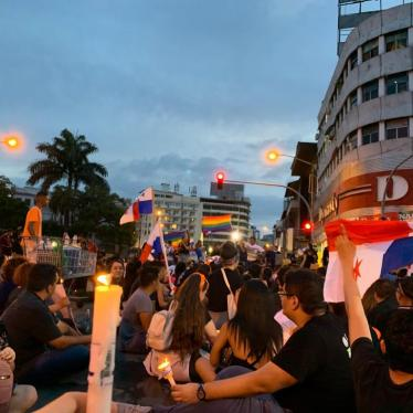 Panamanians protesting constitutional reforms on November 2, 2019.