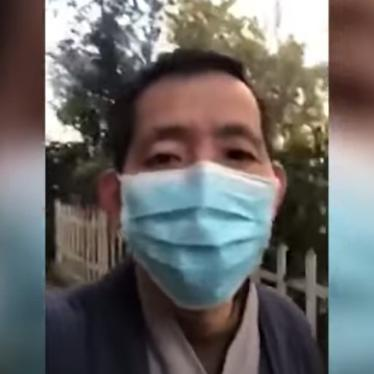 Clip from video of the social media of Fang Bin, businessman, as he films conditions inside of one of the city's hospitals treating coronavirus patients in Wuhan, China, February 1, 2020. © 2020 Fang Bin / YouTube