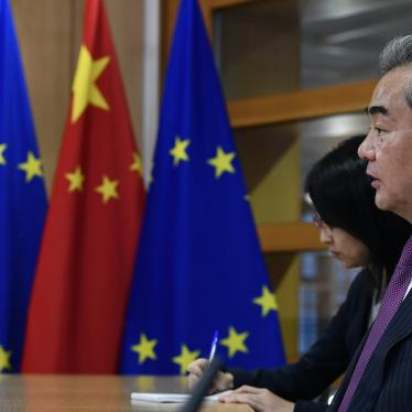 China's Foreign Minister Wang Yi at a meeting with European Council President Charles Michel in Brussels, December 17, 2019.