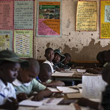 Schoolchildren attend class at a school in Norton, west of the capital Harare, Zimbabwe, September 10, 2019.