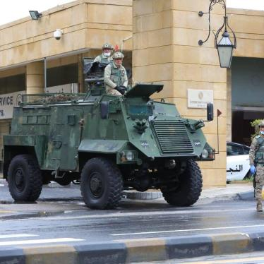 Jordanian Armed Forces guarding a hotel used as a quarantine site in Amman, Jordan. 18 March 2020.
