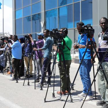 Somali journalists in Mogadishu, Somalia December 29, 2019.