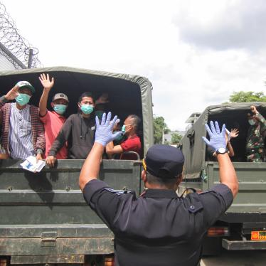 Indonesian prisoners approaching the end of their sentences are released to avoid a coronavirus outbreak in overcrowded prisons in Depok, near Jakarta, Indonesia, April 2, 2020.