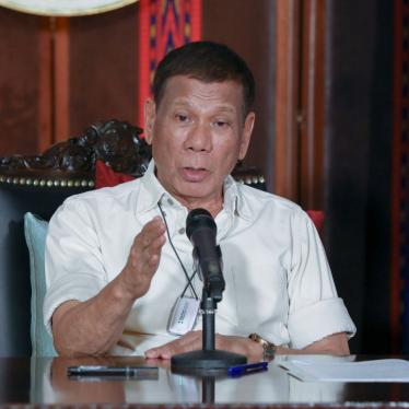 Philippine President Rodrigo Duterte speaks during a late night live broadcast in Malacanang, Manila, Philippines, April 3, 2020.